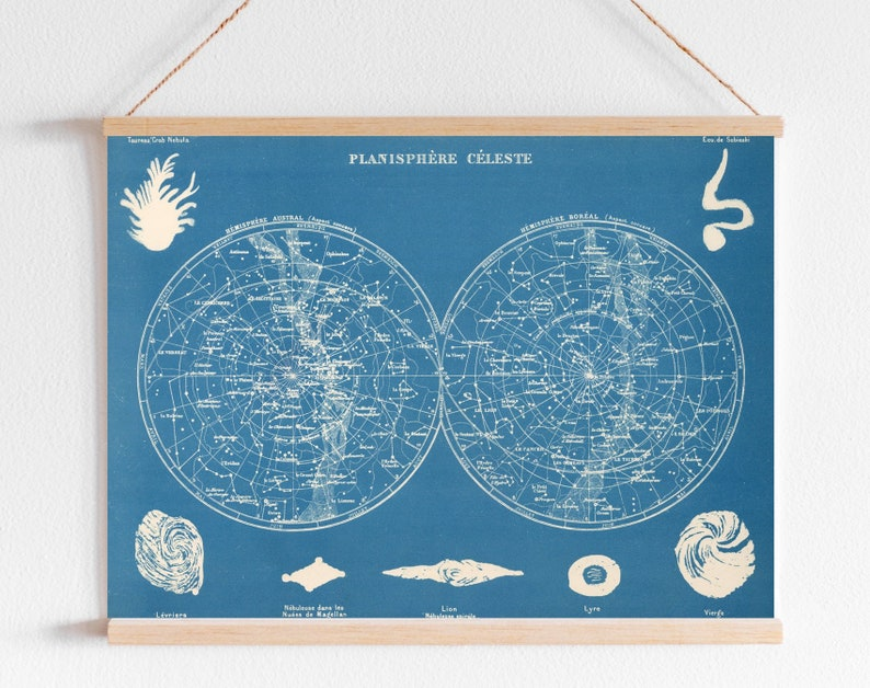 photo about Planisphere Printable known as Planisphere Celeste Star Chart Printable.Astronomy Poster.Celestial Chart Map Celebs Constellations.Nursery Area Print Electronic Sky Famous people Map