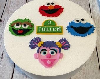 Sesame Street Fondant Cake Toppers