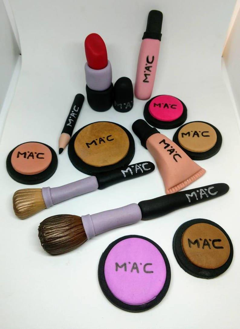 Fondant Makeup Mac Inspired Cake Toppers Makeup Cake -4001