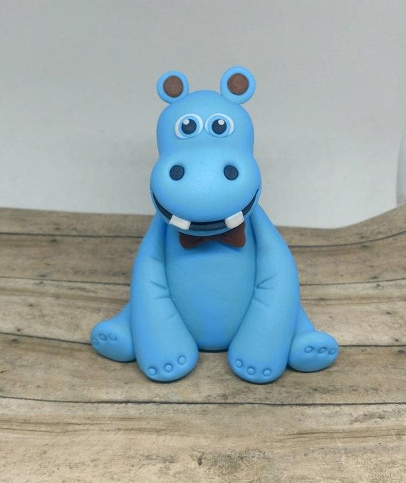 Cool Fondant Hippo Baby Cake Topper Fondant Animal Baby Cake Etsy Personalised Birthday Cards Akebfashionlily Jamesorg