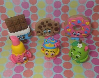 Fondant Shopkins - Shopkins Cake Toppers - Shopkins Birthday Decor - Kids Birthday