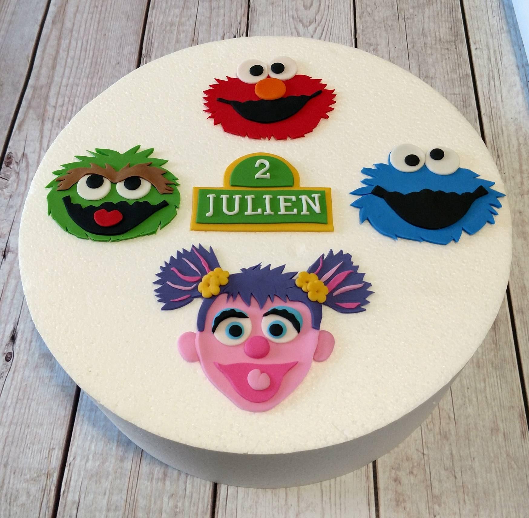 Sesame Street Fondant Cake Toppers Elmo Oscar Abby