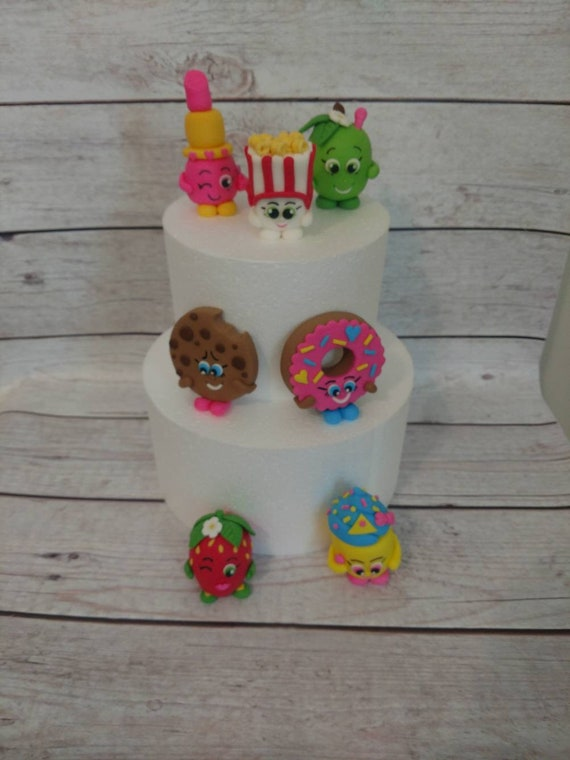 Fondant Shopkins Cake Toppers Birthday
