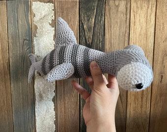 Hammerhead Shark Amigurumi Crochet Toy Plushie, Baby Shark Handmade, Finished Crochet Amigurumi