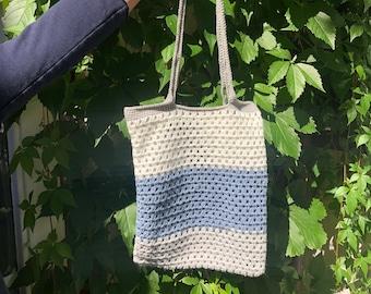 Crochet Glitter Market Bag | Tote Bag | Shopping Bag |Reusable Bag