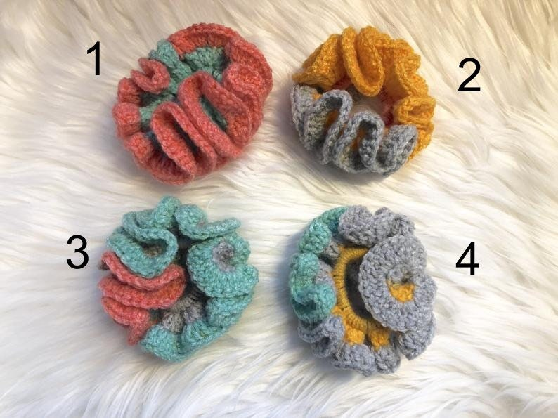 Scrunchy Crochet Handmade Fluffy Big Sized image 0