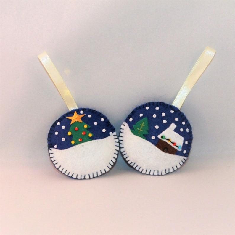 Christmas Balls Ornament Handmade Set image 0
