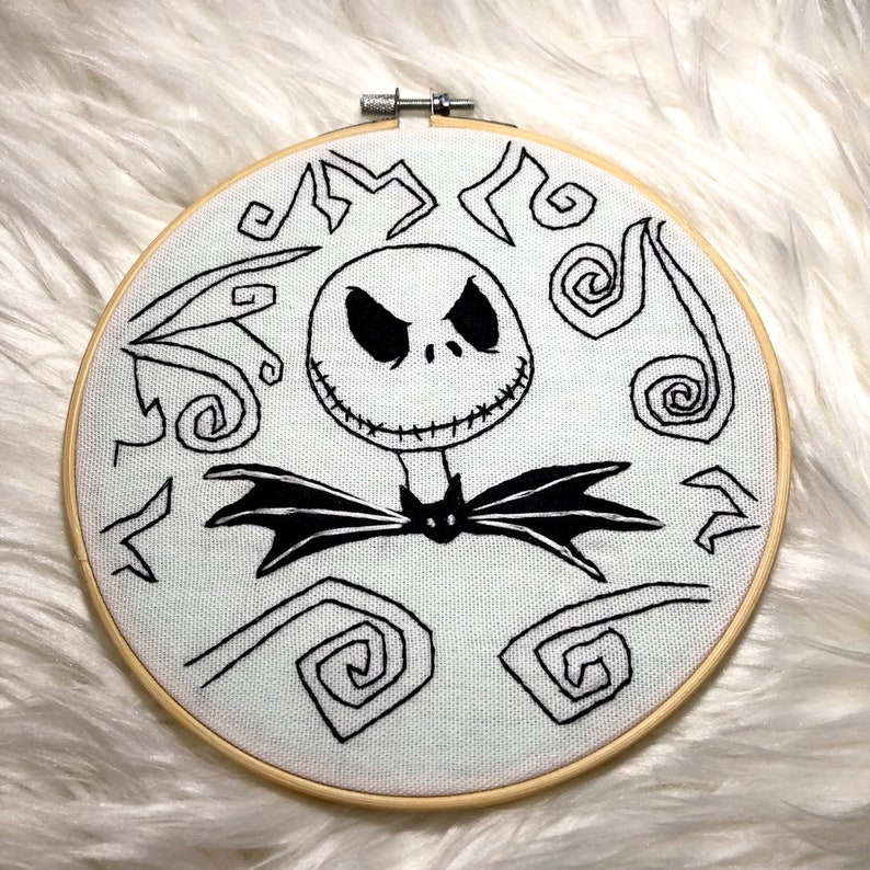 Jack Skellington The Nightmare Before Christmas Embroidery image 0