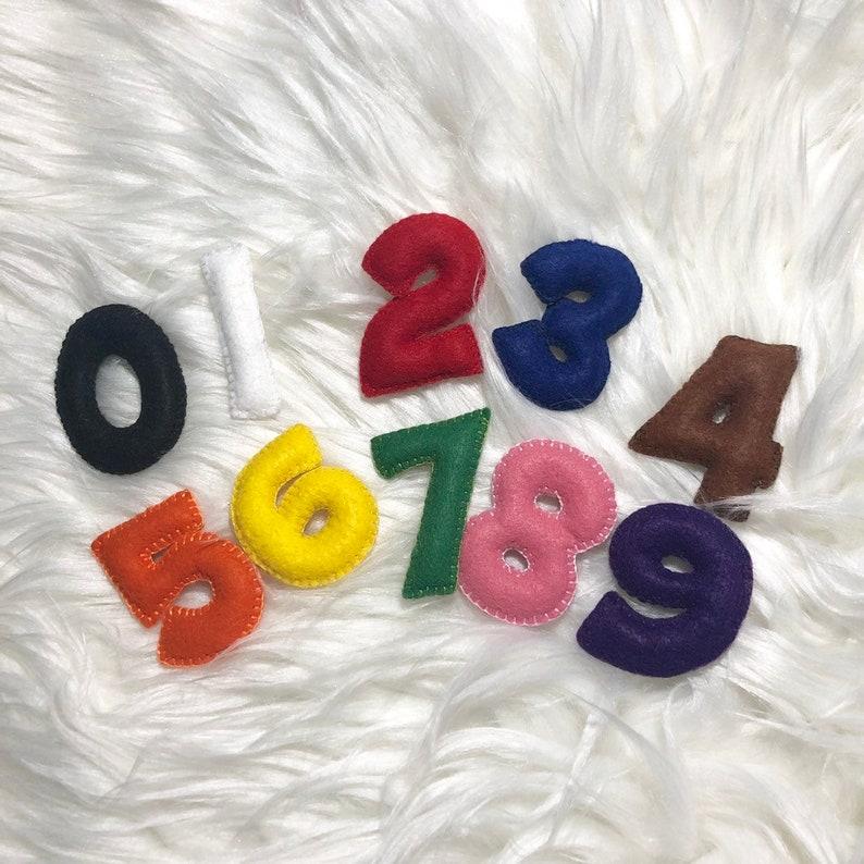 Handmade Toys Set of Felt Numbers image 0