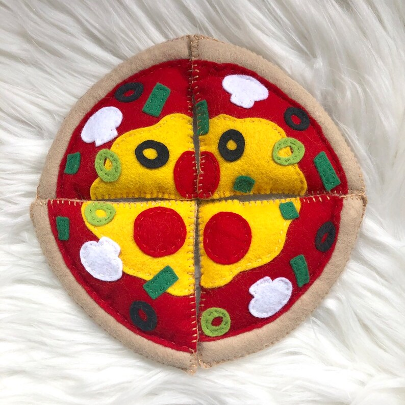 Pizza Toys Handmade Felt Pretend Play Kids image 0