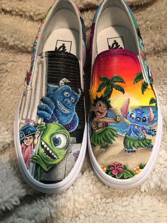 Lilo and Stitch/Monsters inc shoes | Etsy