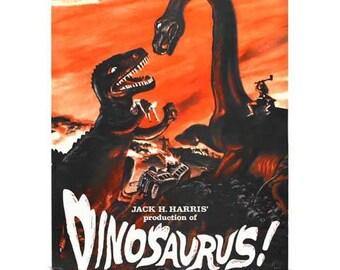 Dinosaurus Movie Poster Art - Vintage Dinosaur Print Art - Home Decor - Horror Movie Theater Poster