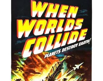 When Worlds Collide Movie Poster Art - Vintage Print Art - Home Decor - Movie Theater Poster