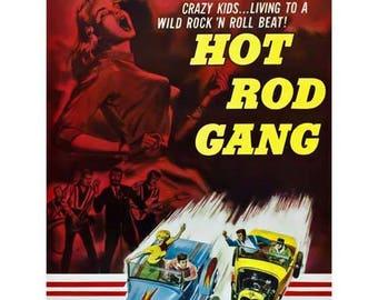 Hot Rod Gang Movie Poster Art - Vintage Print Art - Home Decor