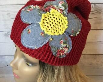 7312c912b8b Womens hipster slouchy knit beanie
