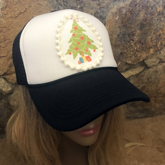 Christmas tree hat trucker hat holiday hat womens trucker  c2410390db