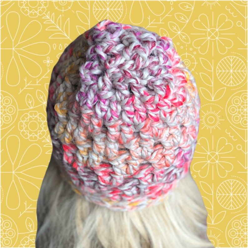 womens beanie chunky beanie knit beanie cute hat gift for women crochet hat winter cap Crochet beanie winter hat