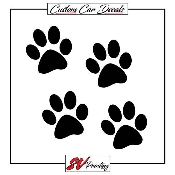 TALK TO THE PAW VINYL DECAL STICKER DOG PUPPY PET CHOOSE COLOR