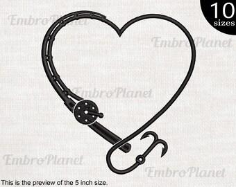 Heart Crappie *F346* sticker decal fishing rod reel bait boat motor