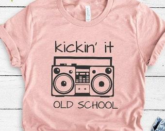 Kicking it Old School Hip Hop T Shirt - 90s hip hop clothing - Soft Unisex  Tee 23c6e919b