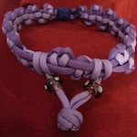 Beautiful Heart pattern with glass beads paracord collar bdsm