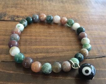 Evil Eye Gemstone Bracelet