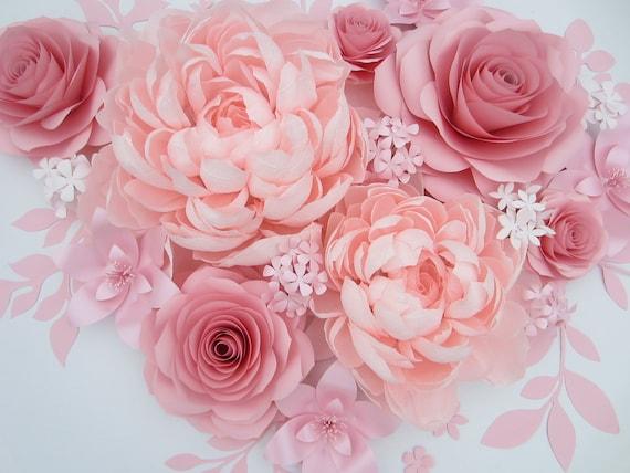 3d Large Paper Flowers Princess Room Decorations