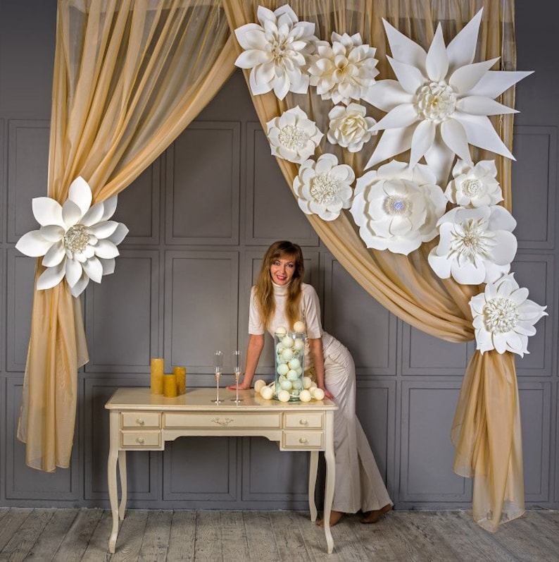 Large Paper Flowers-Giant Flowers-Paper Flower image 0