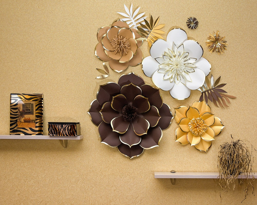 Giant Paper Flower Backdrop Set Of 4 Unique Large Paper Etsy