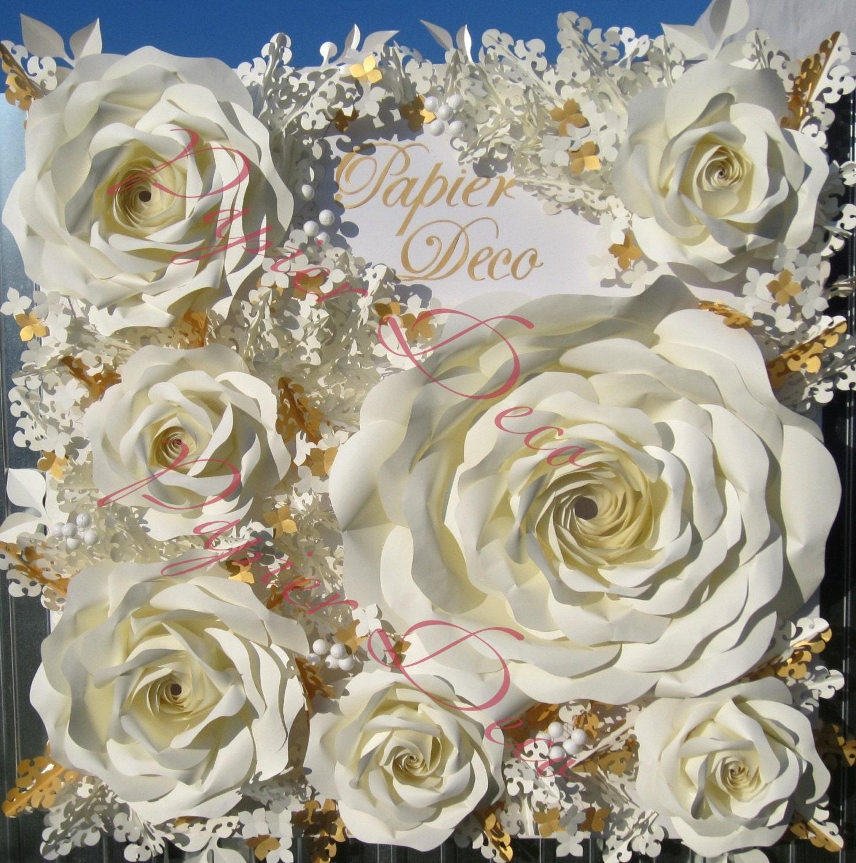Wedding Backdrop Paper Flower Wall Large Paper Flower