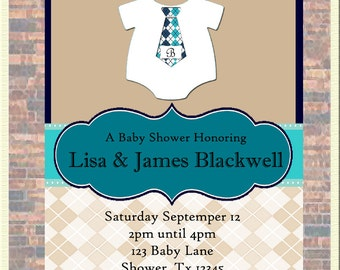Dressed To Impress Baby Shower Invitation-Personalized with Your Party Details!