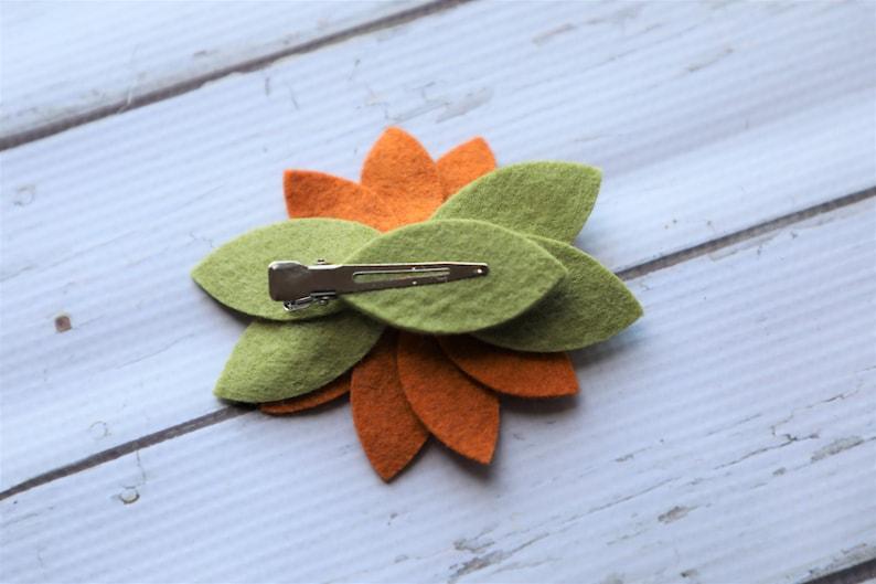 summer hair clip toddler hair clip Felt Wildflower Hair Clip girl/'s hair clip