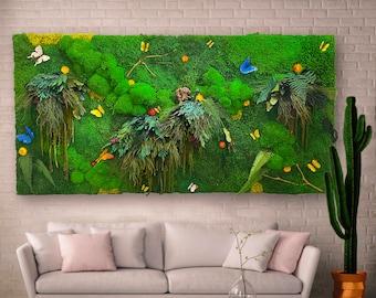 Moss Wall, Moss Wall art, Living wall art, Preserved Moss Wall, Vertical Garden, Large Moss art, Custom Moss Wall Panels, Green Wall,