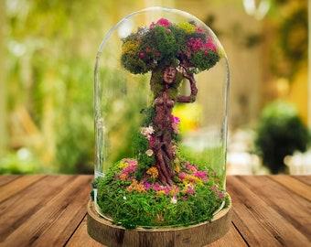 Mother Earth Figurine, Mother Earth Statue, Mother Nature, Gaia, Pagan, Mother Nature terrarium, Terrarium Kit, Christmas Terrarium Gift,