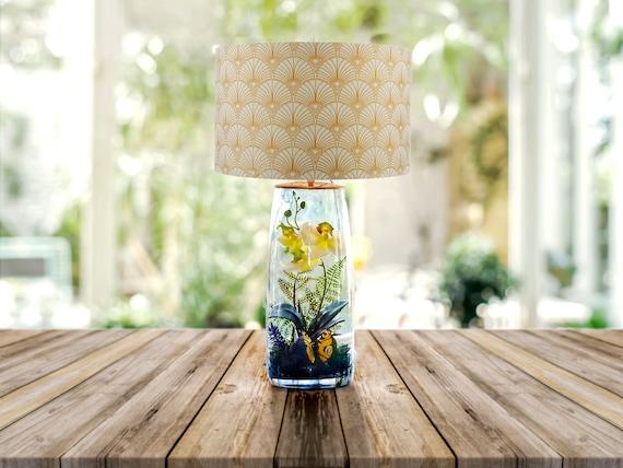 Lampada da tavolo lampada da tavolo vetro lampada per etsy