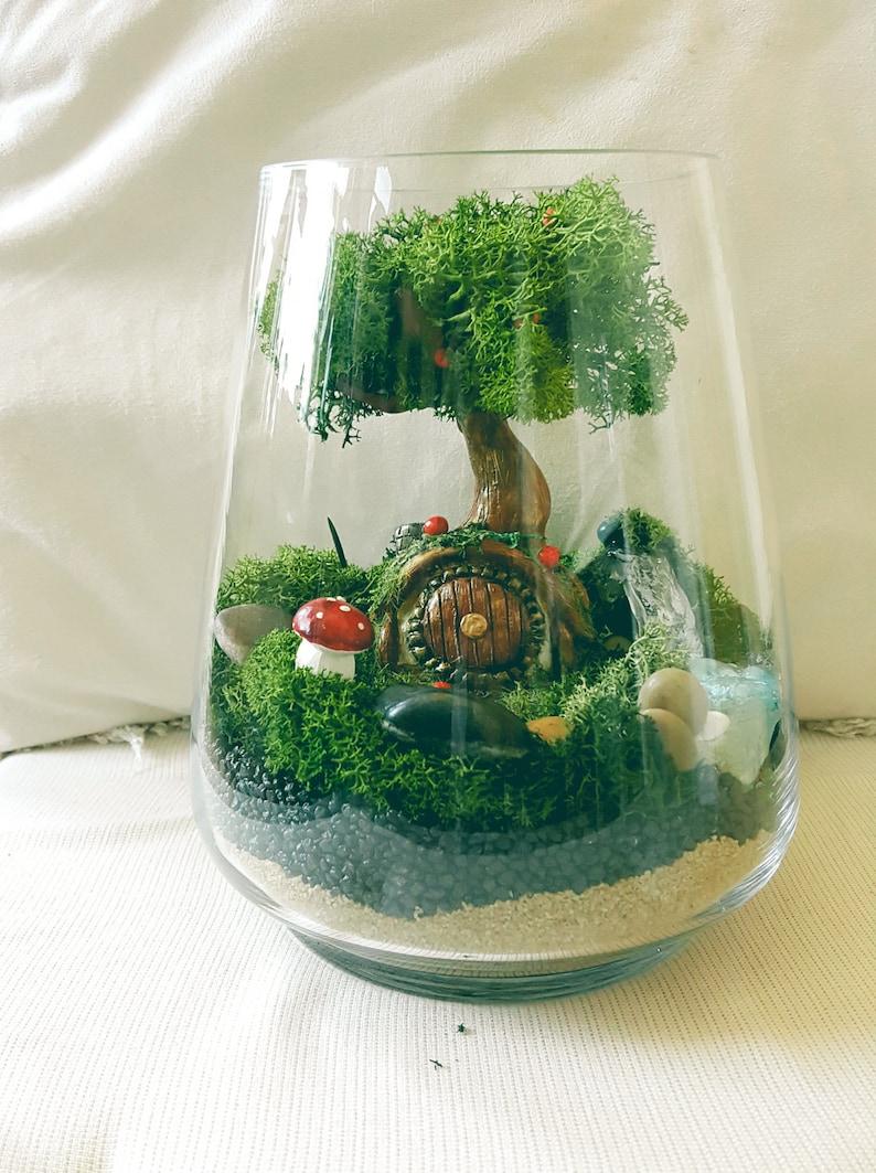 D I Y Terrarium Moss Terrarium Fairy Garden Accessories Etsy
