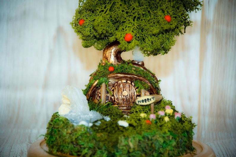 Lord of the rings Fairy garden Terrarium Kit Hobbit terrarium bell jar Moss terrarium Hobbit House Hobbiton, Terrarium The Hobbit