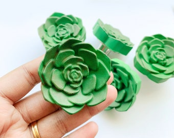 Succulent knobs and pulls, Knobs for drawers, Cacti & Succulent Drawer Pulls, Echeveria Drawer Pulls, Cactus Knob, Drawer Knob, cabinet knob