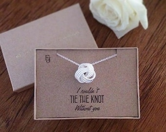"""Silver Plated """"Tie the Knot"""" Classic Pendant"""