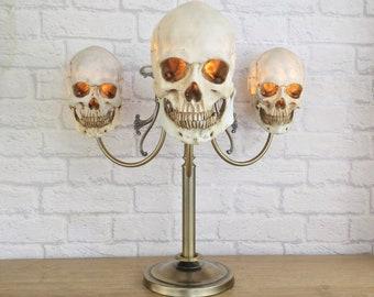 Gothic Home Decor, Gothic Lamp, Gothic Skull, Skull Home Decor, Goth Home Decor, Skull Gifts, Gothic Light, Halloween Decor, Skull Lamp