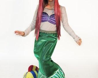 Ariel Dress, Mermaid Costume, The Little Mermaid Dress, Toddler Girl Costume, Birthday Costume, Mermaid Party Dress, Girls Disney Dress