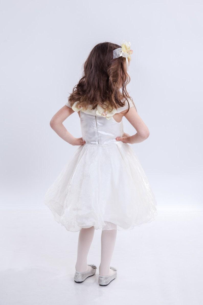 ddd618e49cb White Flower Girl Dress Midi Dress Sleeveless Dress Short