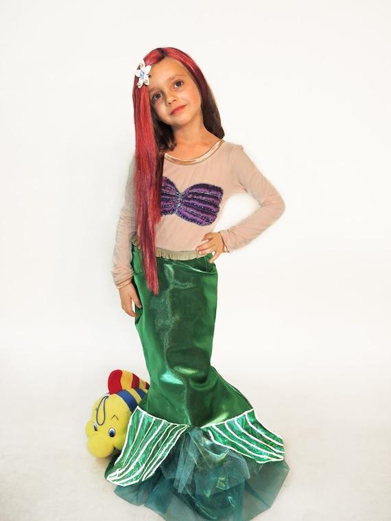 Ariel vestido traje de sirena Sirenita vestido traje de | Etsy