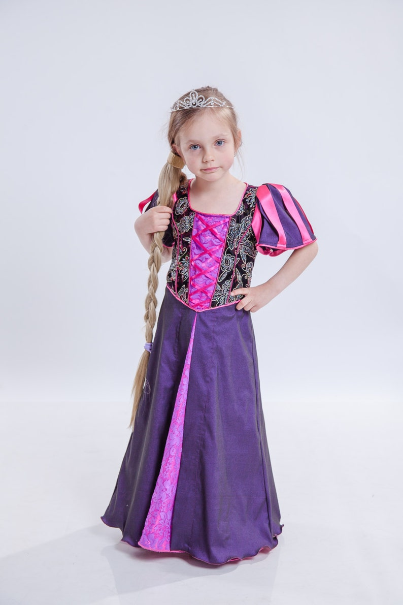 cf1b459d3 Disney Rapunzel disfraz de princesa las niñas de largo