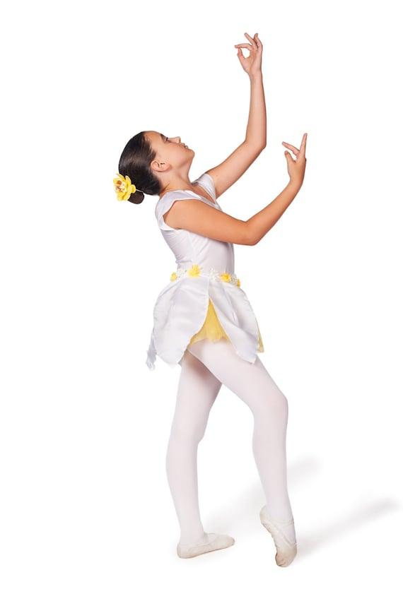 Ballerina Kostüm, Kleinkind Tanz Kostüm, Mädchen Body, Blumenmädchen Rock, Ballett Kleidung, Tanz Kleidung, Ballett Outfit, weißes Kostüm