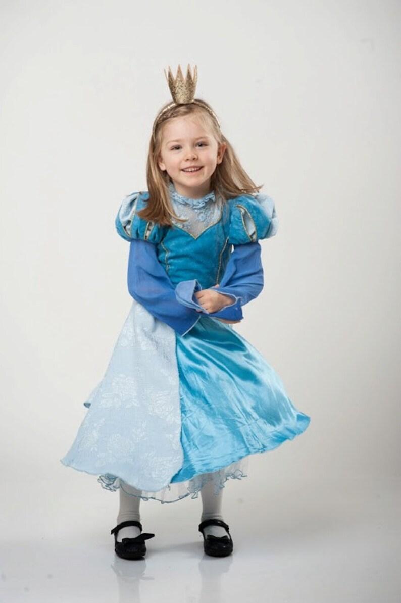 6578473f1832e3 Meisjes blauwe jurk Assepoester jurk Blue Lace Dress