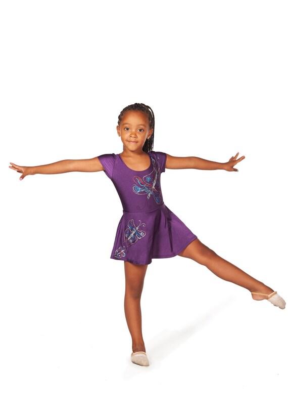 Bodysuit púrpura Leotardo de gimnasia para niñas los niños   Etsy