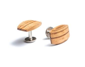Wooden cufflinks for men Lini