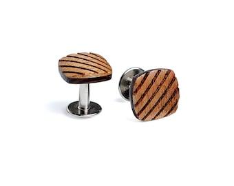 Wooden cufflinks for men Su