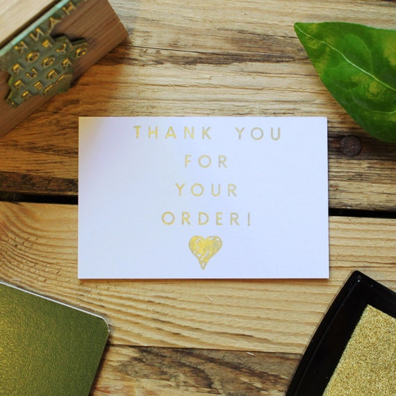 Thanks For Your Order Stamp Thank You Stamp Etsy Seller Etsy